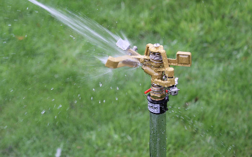 Sector sproeier, water geven aan de border